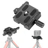 BGNing CL-50LS Aluminum Alloy Quick Release Clamp 3/8  Adapter Screw with PU50 Quick Release Plate for Arca Swiss Plate Tripod