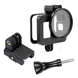 FEICHAO Metal Protective Border Frame Cage with 52mm UV Lens Filter/3D Printed 20MM Rail Adapter for GoPro Hero8 Action Camera