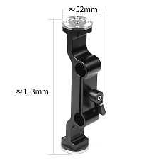 BGNing Aluminum DSLR Dual 15mm Rod Clamp with Arri M6 Rosette Mount Adapter for SLR Camera Follow Focus Photography Accessories