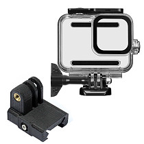 BGNing 60m Underwater Waterproof Case Protective Shell Cover Housing with 3D Printed 20MM Rail Mount for GoPro 8 Action Camera