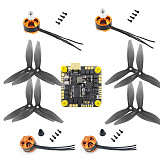 JMT F411 35A AIO 2S-6S BLHELI_ S Flight Controller with 1806 2400kv CW CCW Motor DIY Kit for FPV Racing Drone RC Quadcopter