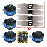 FEICHAO DIY FPV Racing RC Drone Kit with F411 20A AIO 2S-5S Flight Controller + 1204-5000KV Motor + 3018 3inch PC Propeller