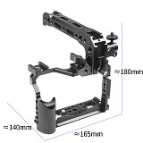 FEICHAO BTL-FT30 CNC XT20/XT30 Camera Rabbit Cage Expansion Kit with Handle Grip M512 Screw Cold Shoe 360° Rotation Connecting arm Photography Accessories