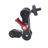 BGNING SLR Camera Magic Arm Mount Adapter 1/4 Screw to Sport Camera Bracket 360 Degree Rotation Universal Metal for Photography Equipment