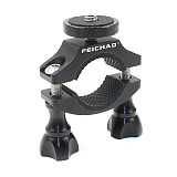 FEICHAO Bike Motorcycle Handlebar Clamp Bicycle Camera Mount Holder for GoPro Hero 9 8 7 6 5 Insta360 ONE X