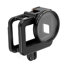 FEICHAO CNC Protective Case for GoPro Hero 8 Black Aluminum Frame Cage Mount Hot Shoe + UV Lens Filter for Go Pro 8 Camera Accessories