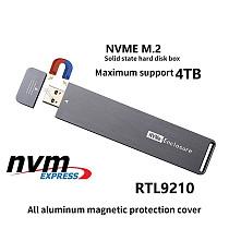XT-XINTE USB 3.0 M.2 NVME External Hard Enclosure PCI-e x4 x2 M2 to Type A M Key SSD Case Box Support 2280 2260 2242 4TB HDD Card Adapter