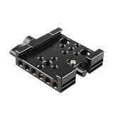 BGNING Quick Release Plate for Manfrotto 577 501 Camera Tripod Baseplate 60mm 1/4  3/8  Screw Holes DSLR Cage Rig Rail Mount QR Board