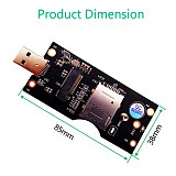 XT-XINTE for NGFF(M.2) to USB 3.0 Adapter with SIM 8pin card Slot for 3G/4G/5G Module