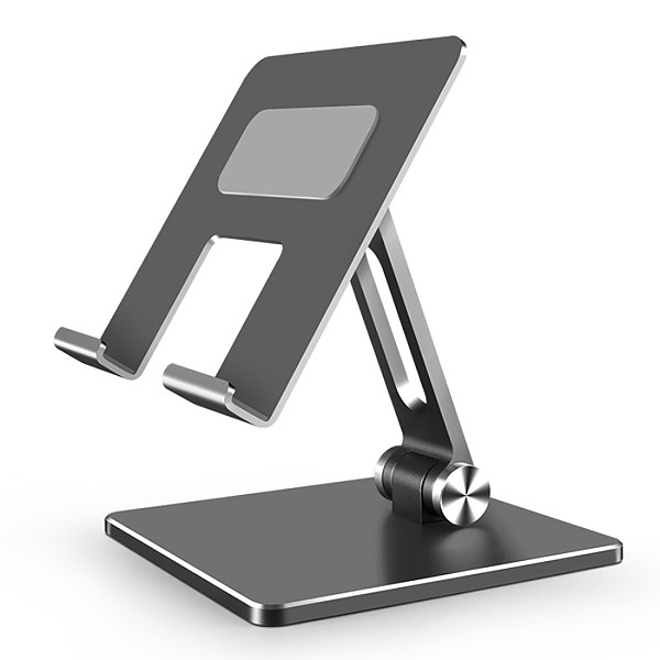 XT-XINTE Universal Aluminum Dual-axis Adjustable Folding Stand Holder Bracket Stabilizer for Huawei Samsung Apple Phone Tablet