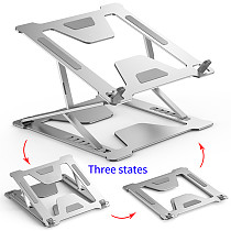 XT-XINTE Universal Aluminum Foldable Adjustable Portable Cooling Stand Bracket Stabilizer For Computer Laptop ipad