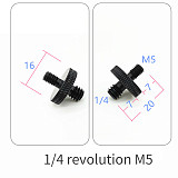 BGNing 5/8  Female to Female 5/8  Inch 1/4  3/8  to M5 M6 Male to Male Thread Screw Mount Adapter Nut for DSLR Tripod Plate MIC Holder