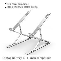 XT-XINTE Universal Aluminum Portable Foldable adjustable Holder Bracket Stand for Computer Laptop ipad