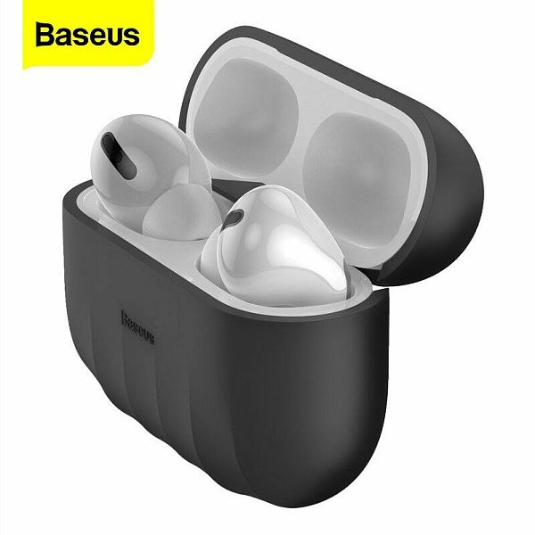 Baseus New Airpods Pro Case Shockproof Cover Silicone Earphones Soft Earbuds Shell