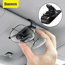 Baseus New Portable Car Eyeglass Holder Sunglasses Storage Cilp Magic Stick Hook Interior Organizer