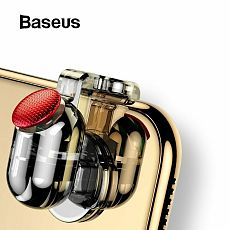 Baseus 1pcs New Portable Phone Gamepad Aim Button Trigger Game Handle Marksman Controller for PUBG