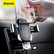 Baseus New Portable Air Vent Mount 10W Qi Wireless Charger Car Phone Holder Stand for iPhone