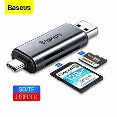 Baseus New Portable Type C to USB 3.0 Card Reader SD TF OTG Adapter for Laptop Tablet PC