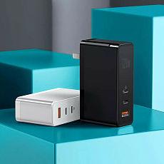 Baseus New Portable GaN+SiC 120W USB Type-C USB-C Charger 3 Port PD 3.0 for iphone 12 EU-Plug