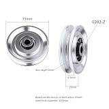 BGNING 73/95/110/114mm Aluminum Bearing Pulley Wheel Gym Fitness Training Equipment Accessories for Lift, Heavy-duty Pulley, Cable Fitness Equipment Part, Partially Used for Hiking Camping Pulleys