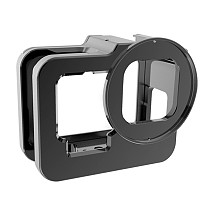BGNing CNC Aluminium Camera Cage for Gopro Hero 9 Cover for Gopro9 Protective Case for Hero9 Black Mount Frame with UV Filter Lens Cap