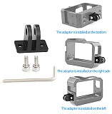 BGNing Aluminium Camera Cage for Insta360 One R Shell Protective Case Mount Frame with 2 Cold Shoe Base Slot for Light MIC Stand Holder