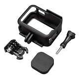 BGNing Protection Frame for GoPro Hero 9 Black Protective Cage Cover Cold Shoe Mount for Go Pro 9 Plastic Case For GoPro9 Accessories 