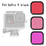 BGNing Hero9 Camera Lens Waterproof Housing Filter Lens for Gopro Hero 9 for Gopro9 Red/ Purple/ Light Red 3 Colors