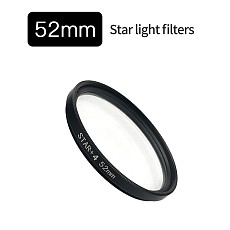 FEICHAO 4x 6x 8x UV Star Line 52MM 37MM Camera Lens Filter for Smartphone For DSLR Camera Photo Photography Accessories