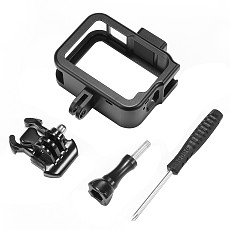 BGNING Camera Aluminum Alloy Rabbit Cage for Gopro8 Protective Frame Housing Shell with Base for Go Pro Hero 8