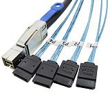 XT-XINTE Mini SAS Cable SFF-8644 to 4 x SATA External Server Hard Disk Computer Accessories