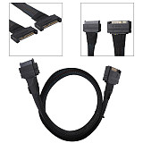 XT-XINTE U2 SFF-8639 NVME PCIe SSD Cable Male to Female Extension Cable 55cm MINI SAS 68Pin Server Power Cable for 750 U.2 SSD