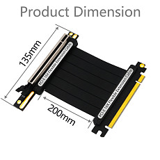 XT-XINTE PCIe 3.0 x16 PCI Express Riser Extender Cable Flexible High Speed 90 Degree GUP Riser Cable with LED for Graphics Card