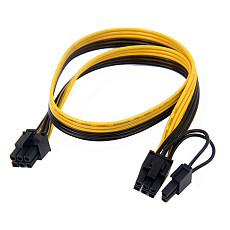 XT-XINTE PCIe 6Pin to 6+2 Pin Power Supply Cable 8 pin to 6 Pin PCI Express Graphics Card Power Cable Male to Male Port