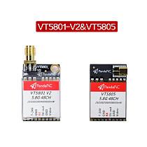 PandaRC VT5801 V2 VT5805 FPV Video Transmitter 5.8G 48CH 25/100/200/400/600mW Switchable OSD Adjustable SMA MMCX VTX for DIY FPV RC Racing Drone