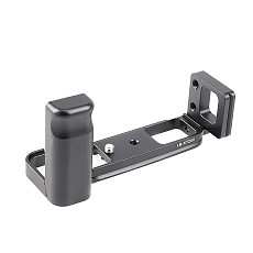 BGNing Aluminum Quick Release Vertical Plate with Hand Grip Mount Bracket for Fujifilm XT200 Camera Cage L Board for Fuji X-T200