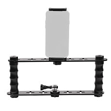 BGNING Dual handheld Diving Accessories With Clip Mount Holder Monopod Tripod Mount Accessories for Sports Camera SLR photography equipment for Cell Phone
