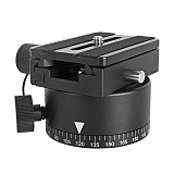 FEICHAO Panoramic Tripod Head Quick Release Plate w/ Node Index Rotator Adjustable Hole Blind Spot Shooting Mount Adapter Dslr Cameras