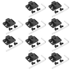 BGNing 10x DSLR Camera Video Monitor Mount Plate Bracket for Dji Ronin S Stabilizer M4 to 1/4  Screw Adapter Extend Port Base