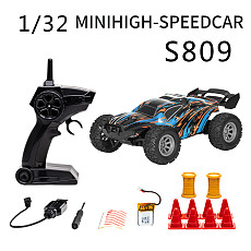FEICHAO S658 Mini Remote Control Car for Kids 2.4GHz 1:32 RC Car with LED Light 20KM/H High Speed Racing Car with 100mah Battery
