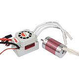 Surpass Hobby 2845 Waterproof Brushless Motor + 45A ESC for 1/10 1/14 RC Car