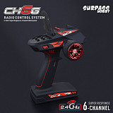 Surpass Hobby 6CH Remote Control Transmitter w/X6FG Gyro X6F Receiver Built-in Gyroscope for RC Car Boat Tank Model Toy