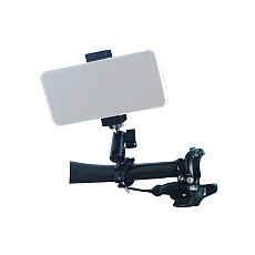 BGNing Aluminum Mobile Phone Holder SLR Camera Gmibal Tripod Bike Motorcycle Clip Cold Shoe Mount Selfie Stick 1/4  Hole Clamp