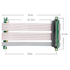 XT-XINTE Pcie4.0 X16 270 Degree Graphics Card Extension Cable High-speed Transmission Line 155mm 165mm for Computer chassis