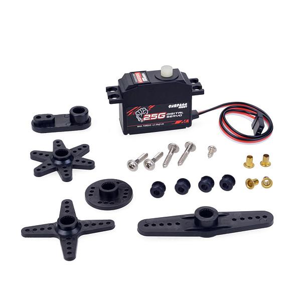 SURPASS HOBBY S0025P 25g Plastic Gear Digital Servo Digital Steering Gear For 1/12 RC Car Aircraft RC Boat Robot