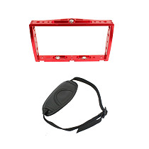 FEICHAO Diving CNC Dual Handle Selfie Tray Steady Holder Mount with Wrist Strap Compatible for GoPro Series/ Insta360 ONE R and Micro SLR Action Cameras