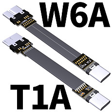 ADT-Link Type C To Micro USB 3.0 Type-c 90 Degree Adapter 15cm FPC Ribbon Flat USB-C to Micro-B 3.0 OTG FPV Cable 3A 5Gbps