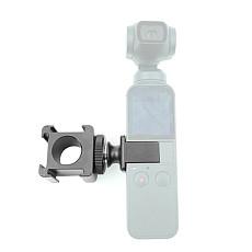 FEICHAO Triple Hot Shoe Mount Gimbal Mic Light Adapter Extension Mount Bracket 1/4 Screw for DJI Osmo Pocket 2 Handheld Gimbal