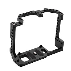 BGNing Aluminum Camera Form-fitting Cage for Canon EOS 70D 80D 90D Housing Case Protective Frame with Cold Shoe Mount 1/4  Holes