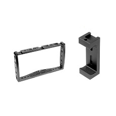 FEICHAO Aluminum Alloy Bracket Stabilizer Live Video Expansion Accessories Microphone Fill Light Mounting Bracket Mobile Phone Bracket 1/4 3/8 Inch Cold Shoe Adapter with Phone Holder for Apple 12 11 Huawei P40   for GoPro8/9/max GoPro All DJI Insta360 ONE R